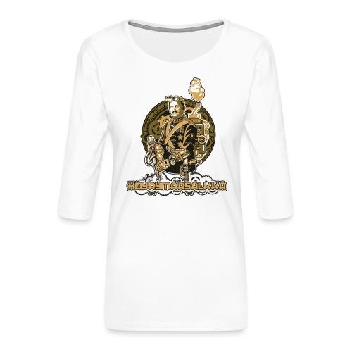 Höyrymarsalkan upea kangaskassi - Naisten premium 3/4-hihainen paita