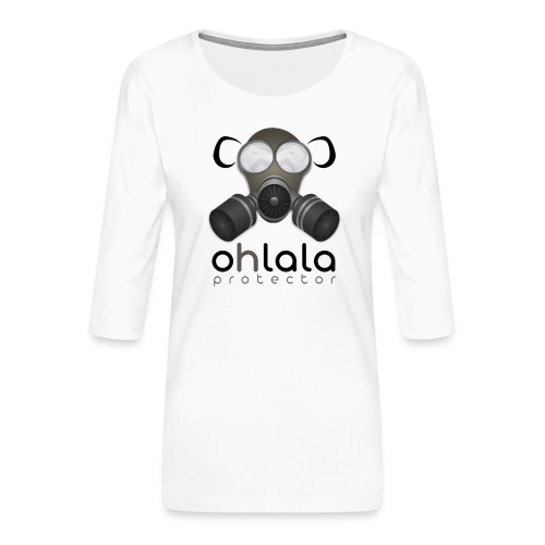OHLALA PROTECTOR BLK - T-shirt Premium manches 3/4 Femme