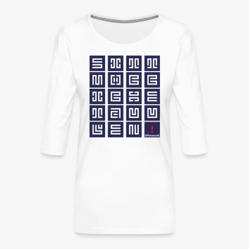 SittMocciche - Maglietta da donna premium con manica a 3/4
