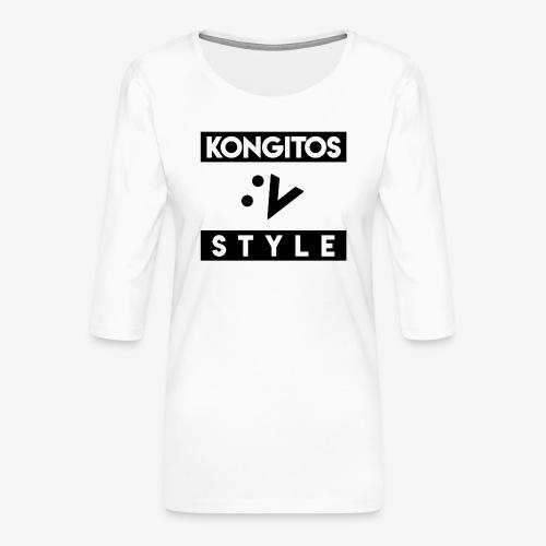 kONGITOS STYLE - Camiseta premium de manga 3/4 para mujer