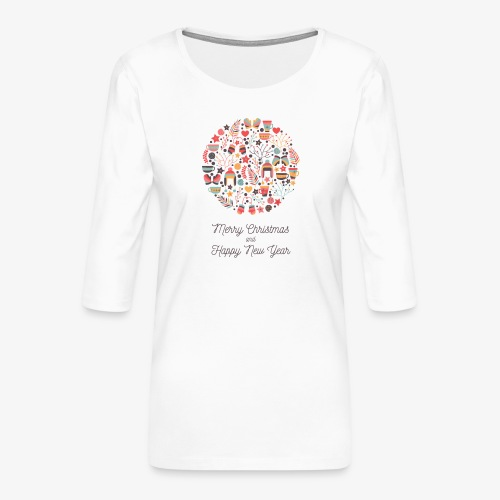 Merry Christmas and Happy New Year - T-shirt Premium manches 3/4 Femme