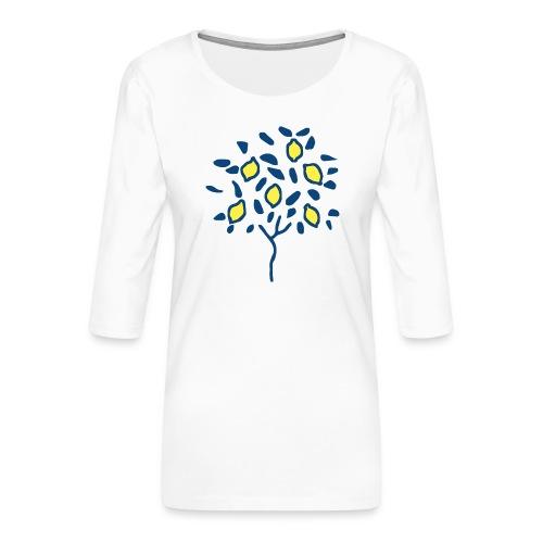 Citron - T-shirt Premium manches 3/4 Femme