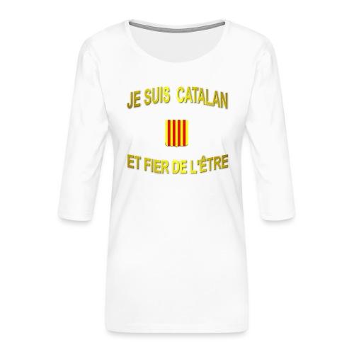 Dessous de verre à l'emblème du PAYS CATALAN - T-shirt Premium manches 3/4 Femme