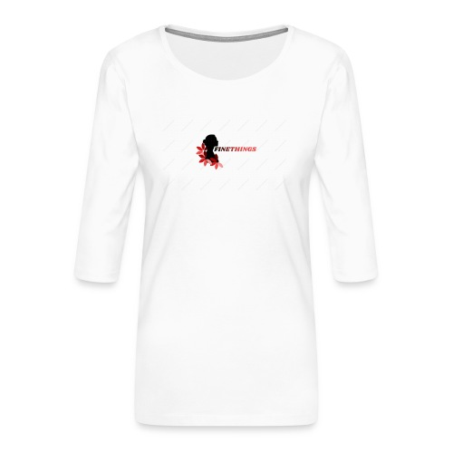 FINETHINGS - T-shirt Premium manches 3/4 Femme