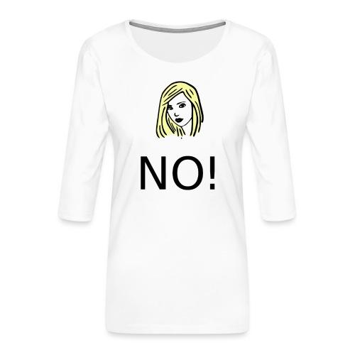 #NO tshirt - Maglietta da donna premium con manica a 3/4