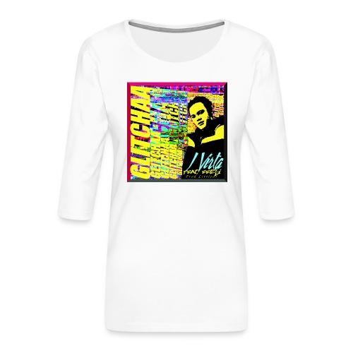 Glitchaa - Naisten premium 3/4-hihainen paita