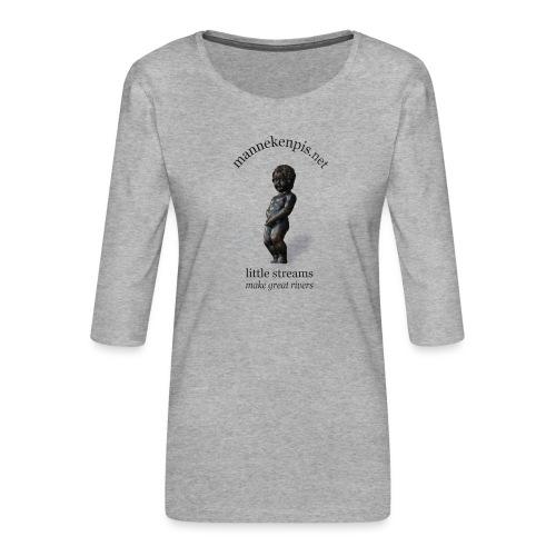 BXL ♀♂   mannekenpis - T-shirt Premium manches 3/4 Femme