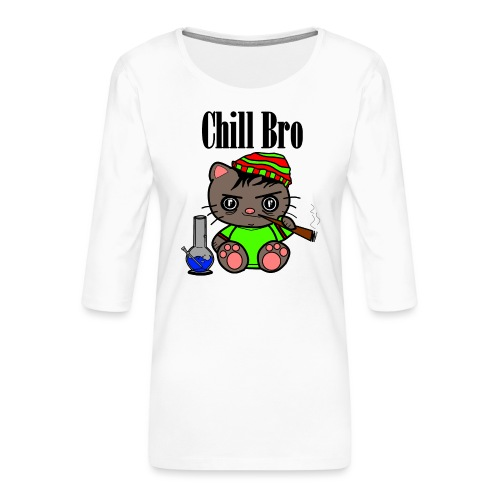 Chill Bro Katze - Frauen Premium 3/4-Arm Shirt