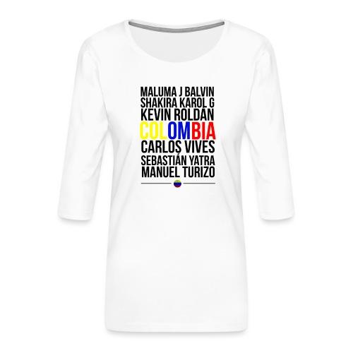 Reggaeton Shirt Kolumbien - Frauen Premium 3/4-Arm Shirt