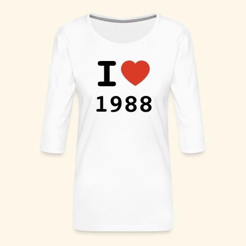 I Love 88 b 001 - Frauen Premium 3/4-Arm Shirt