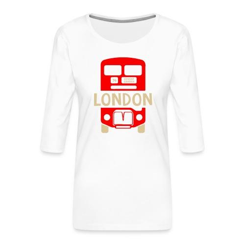 London Bus Roter Doppeldecker London Fan Souvenir - Frauen Premium 3/4-Arm Shirt