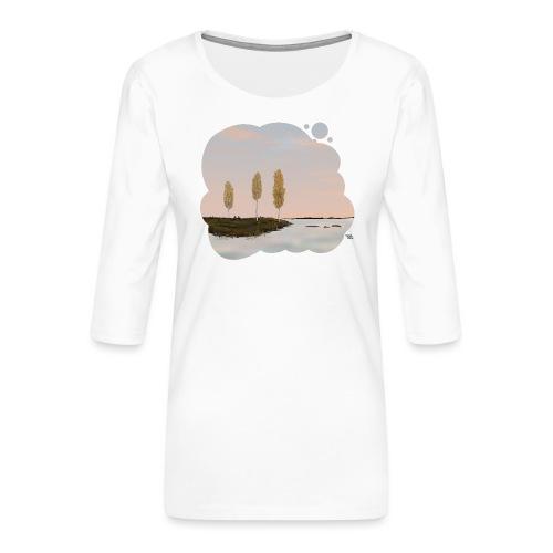 Automne en Laponie - T-shirt Premium manches 3/4 Femme