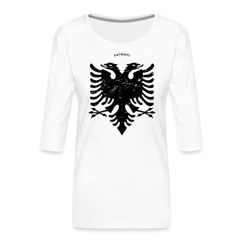 Albanischer Adler im Vintage Look - Patrioti - Frauen Premium 3/4-Arm Shirt