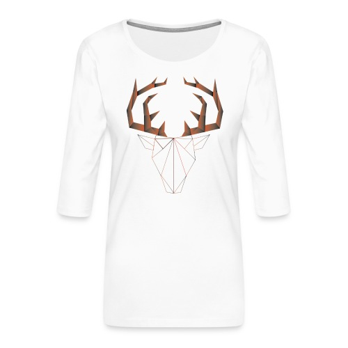 LOW ANIMALS POLY - T-shirt Premium manches 3/4 Femme