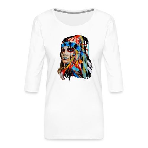 Pióra i pióropusze - Koszulka damska Premium z rękawem 3/4