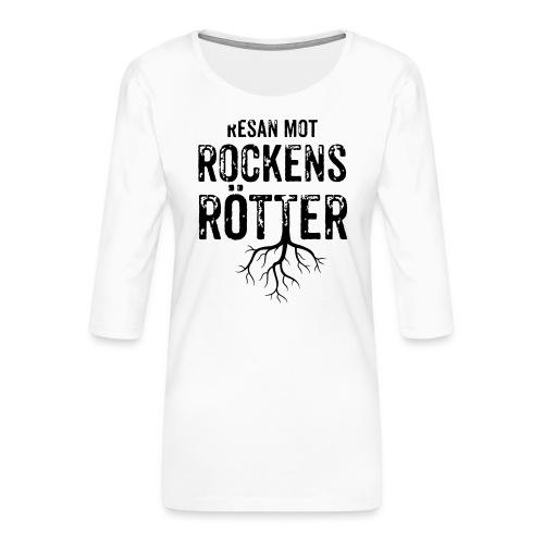 Nallebjörn, Rockens rötter - Premium-T-shirt med 3/4-ärm dam