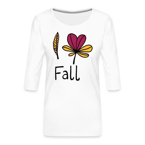 Fall in love - Frauen Premium 3/4-Arm Shirt