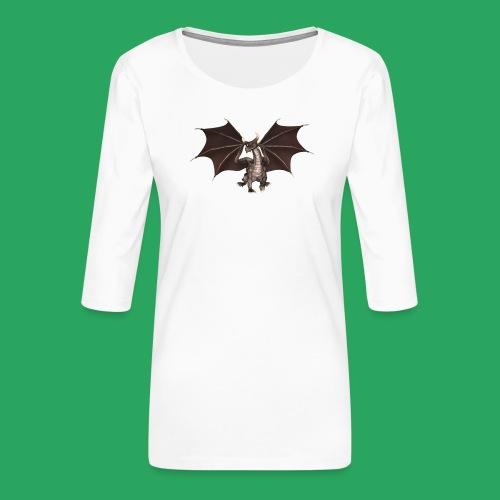 dragon logo color - Maglietta da donna premium con manica a 3/4