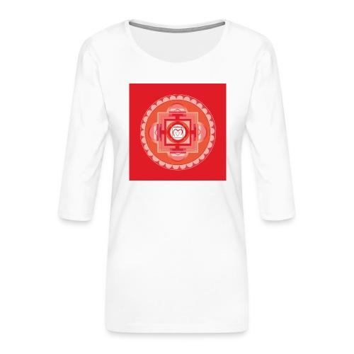 Muladhara - Root Chakra - Naisten premium 3/4-hihainen paita