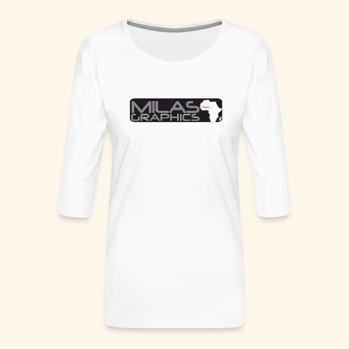 Milas Graphics Africa - T-shirt Premium manches 3/4 Femme