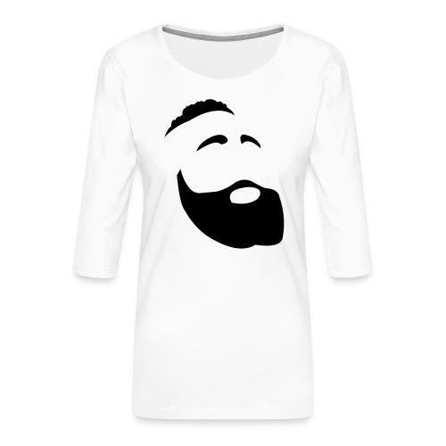 Il Barba, the Beard black - Maglietta da donna premium con manica a 3/4