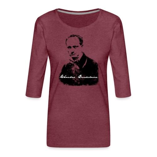 Charles Baudelaire - T-shirt Premium manches 3/4 Femme