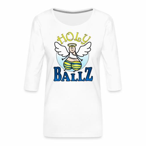 Holy Ballz Charlie - Women's Premium 3/4-Sleeve T-Shirt