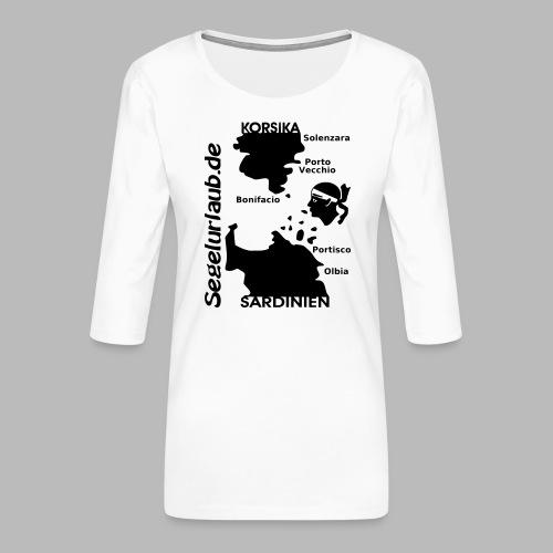 Korsika Sardinien Mori Shirt - Frauen Premium 3/4-Arm Shirt