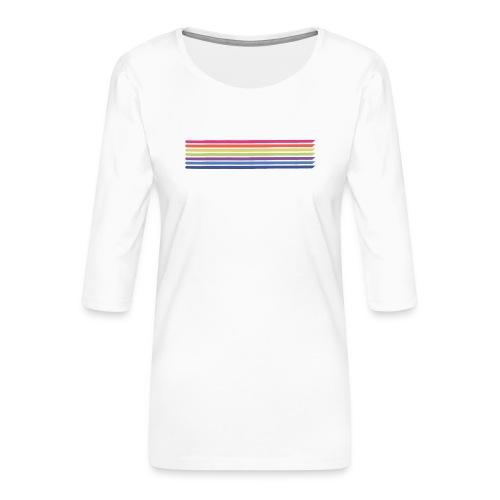 Colored lines - Women's Premium 3/4-Sleeve T-Shirt