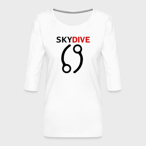 Skydive Pin 69 - Frauen Premium 3/4-Arm Shirt