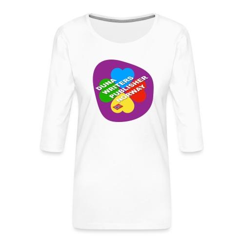 Duna Writers - Premium T-skjorte med 3/4 erme for kvinner