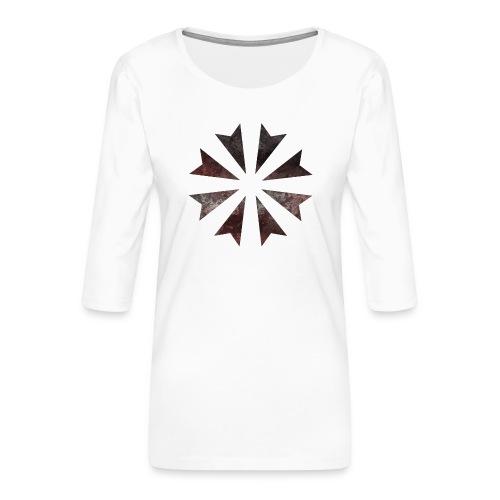 Gladiatores Haukreuz - Frauen Premium 3/4-Arm Shirt