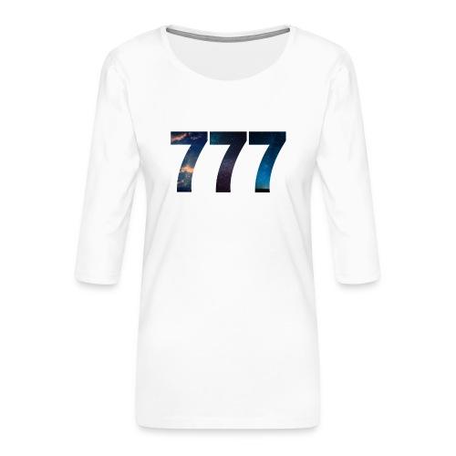 777 un nombre qui apporte chance et spiritualité - T-shirt Premium manches 3/4 Femme