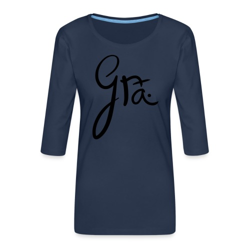 logo-trans-ai - Vrouwen premium shirt 3/4-mouw