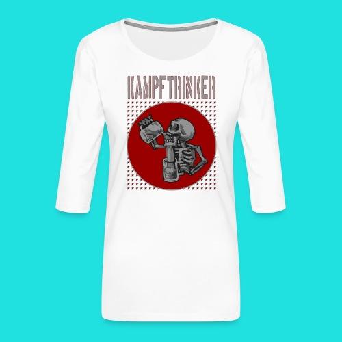 Kampftrinker - Frauen Premium 3/4-Arm Shirt