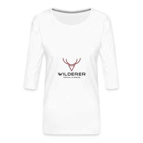 WUIDBUZZ | Wilderer | Männersache - Frauen Premium 3/4-Arm Shirt