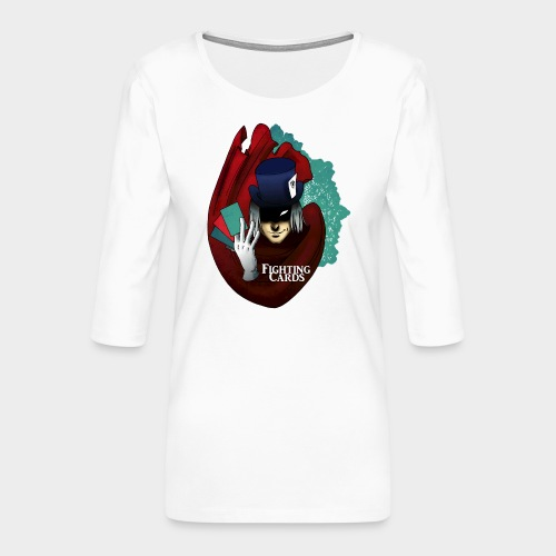 Fighting cards - Magicien - T-shirt Premium manches 3/4 Femme