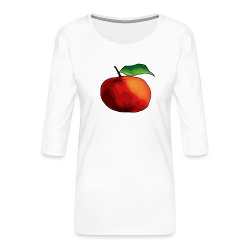 mela-png - Maglietta da donna premium con manica a 3/4