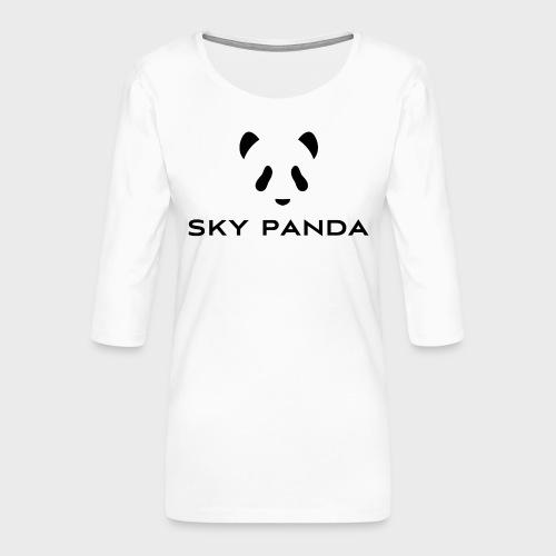 Sky Panda Logo - Frauen Premium 3/4-Arm Shirt
