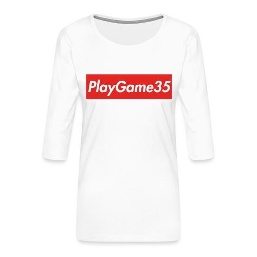 PlayGame35 - Maglietta da donna premium con manica a 3/4