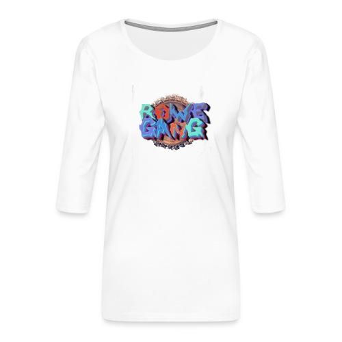 RoweGang Basic Logo - Naisten premium 3/4-hihainen paita