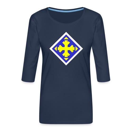 Mäksäreppu, vaalean sininen - Naisten premium 3/4-hihainen paita