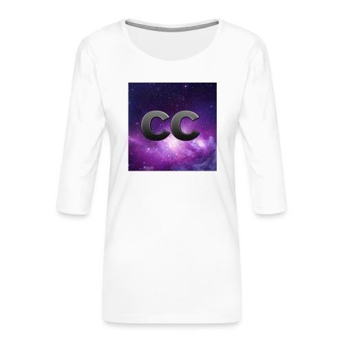 Merchendising CreeperCur - Maglietta da donna premium con manica a 3/4