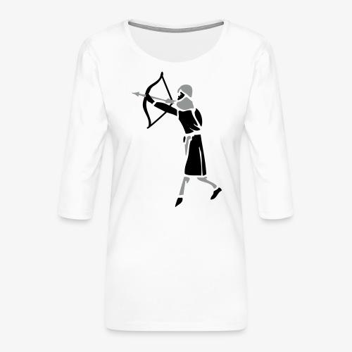 Archer Medieval Icon patjila design - Women's Premium 3/4-Sleeve T-Shirt
