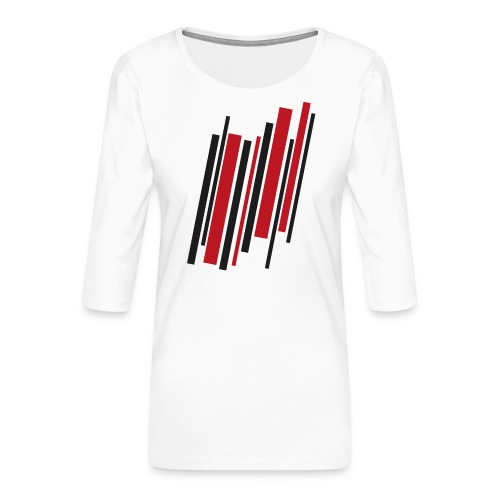 RedBlackLines - Frauen Premium 3/4-Arm Shirt
