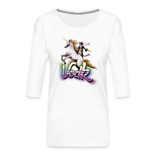 VodK licorne png - T-shirt Premium manches 3/4 Femme