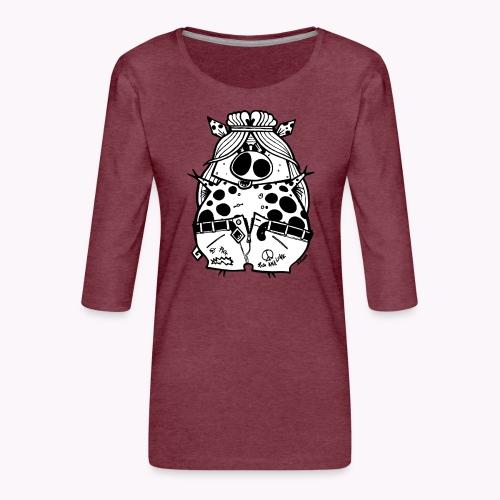 hippig - Maglietta da donna premium con manica a 3/4