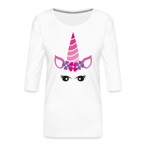 Einhorn - Frauen Premium 3/4-Arm Shirt