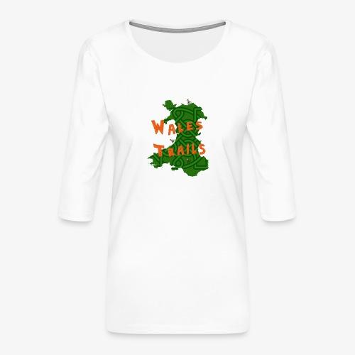 Wales Trails - Women's Premium 3/4-Sleeve T-Shirt