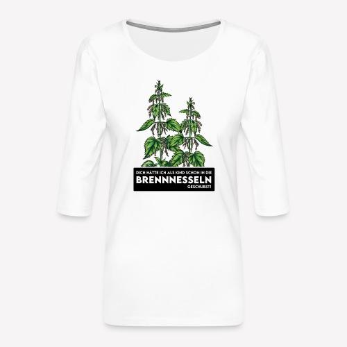 Brennnessel Schubsen - Frauen Premium 3/4-Arm Shirt